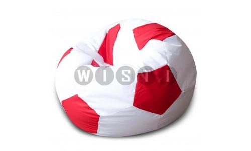 Кресло Мяч Бело-Красный Оксфорд