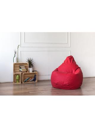 Кресло Мешок Груша Фьюжн Красное (XL, Классический)