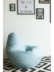 Кресло Мешок Груша Голубая ЭкоКожа (2XL, Классический)