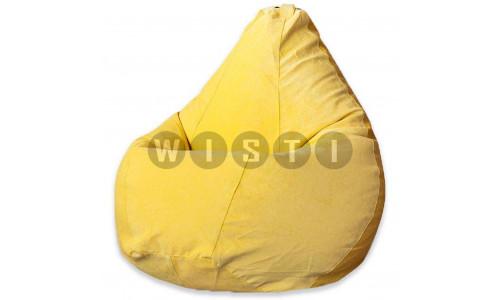 Кресло Мешок Груша Желтый Микровельвет (L, Классический)