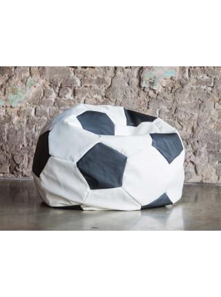 Кресло Мяч Бело-Черный ЭкоКожа