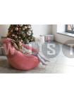 Кресло Мешок Груша Розовый Микровельвет (XL, Классический)