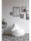 Кресло Мешок Груша Белая ЭкоКожа (3XL, Классический)