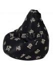 Кресло Мешок Груша Черный Дракон (XL, Классический)