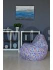 Кресло Мешок Груша Домики Фиолетовые (L, Классический)