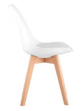 Стул Eames style Wood белый