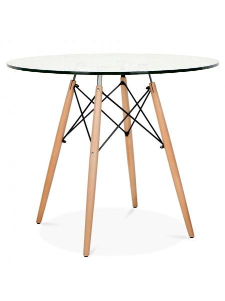 Стол Eames style 90 стекло