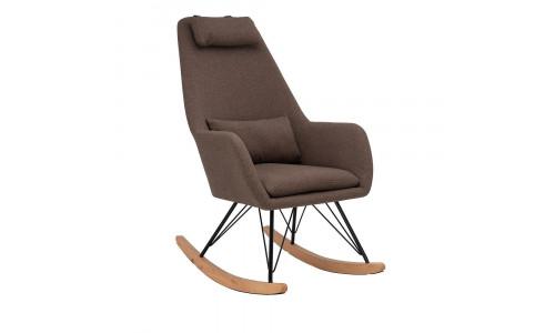 Кресло-качалка LESET MORIS Чёрный/Кофе