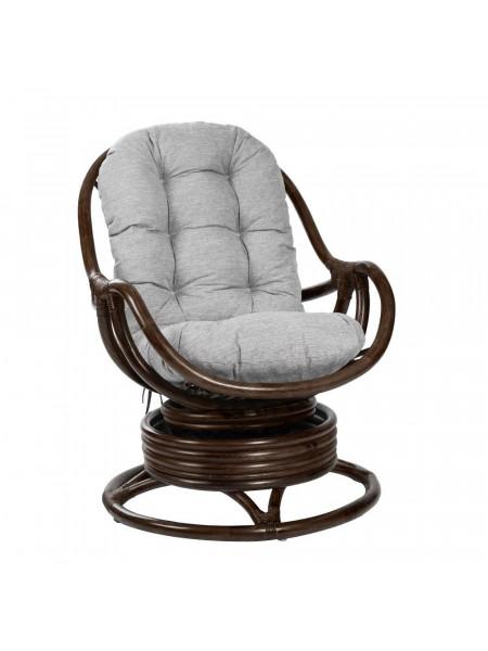 Кресло-качалка KARA с подушкой Орех/Серый
