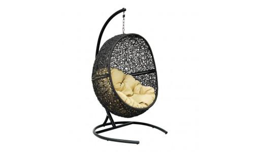 Подвесное кресло LUNAR (175) Чёрный/Светло-бежевый