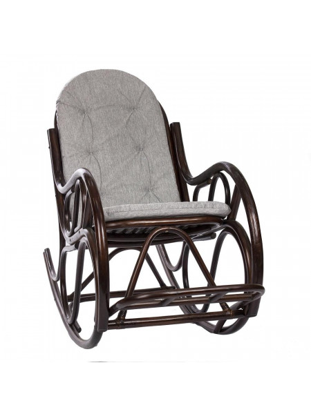Кресло-качалка CLASSIC с подушкой Орех/Серый