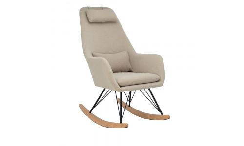 Кресло-качалка LESET MORIS Чёрный/Бежевый