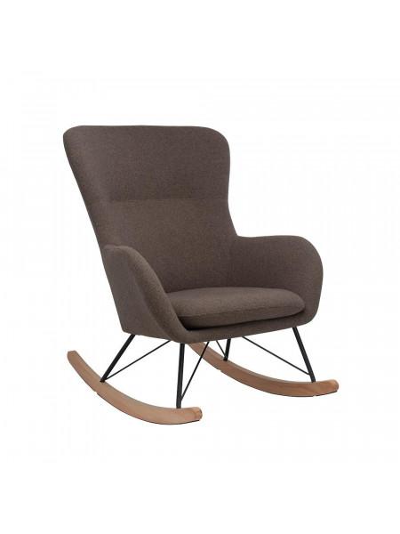 Кресло-качалка LESET SHERLOCK Чёрный/Коричневый