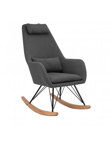 Кресло-качалка LESET MORIS Чёрный/Серый