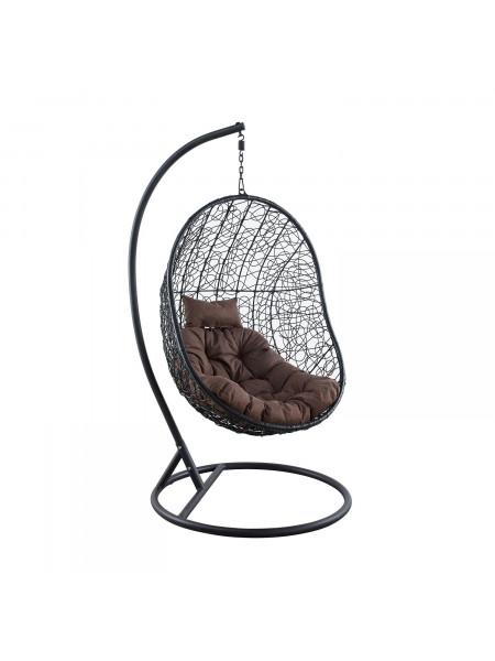Подвесное кресло LESET KIWI Чёрный/Коричневый