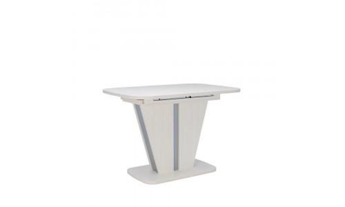 Стол раздвижной 80.528 Leset Бари Наварра белая, компаньон Алюминий