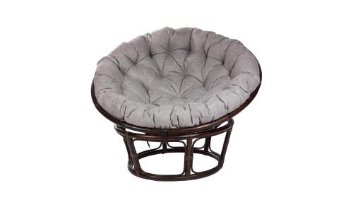 Кресло для отдыха PAPASUN CHAIR с подушкой Орех/Серый