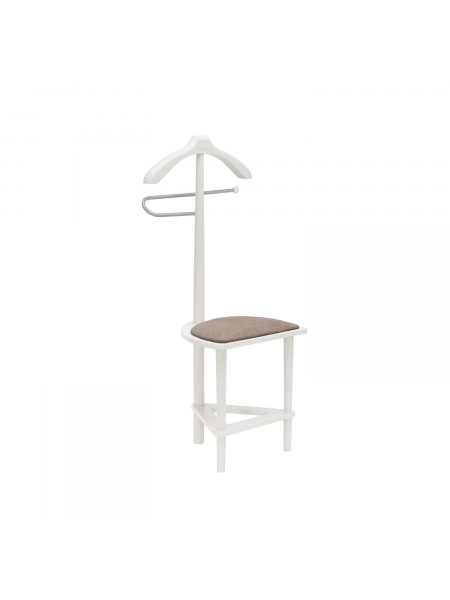 Вешалка со стулом Leset Атланта Коричневый/Белый