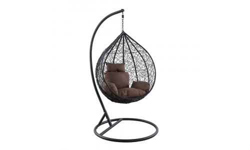 Подвесное кресло LESET KOKOS Small Чёрный/Коричневый