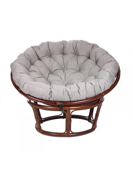 Кресло для отдыха PAPASUN CHAIR с подушкой Коньяк/Серый