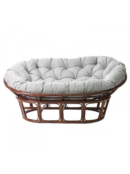 Диван MAMASUN с подушкой Коньяк/Серый
