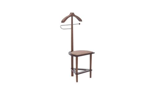 Вешалка со стулом Leset Атланта Коричневый/Коричневый