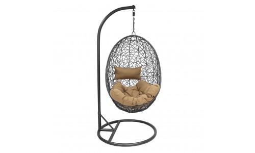 Подвесное кресло LESET SAILS Чёрный/Кофе