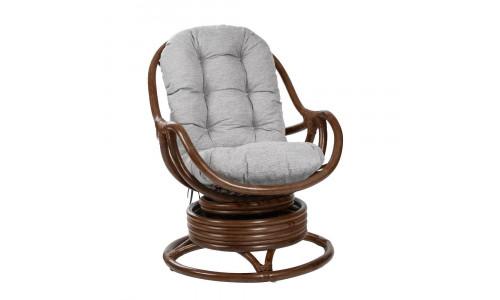 Кресло-качалка KARA с подушкой Коньяк/Серый