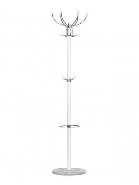 Вешалка напольная LM-Y-256 (белый мрамор, белый)