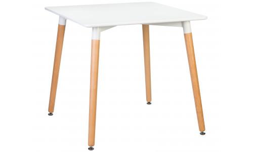 Стол обеденный LMZL-TD-03 (ножки светлый бук, столешница белая)