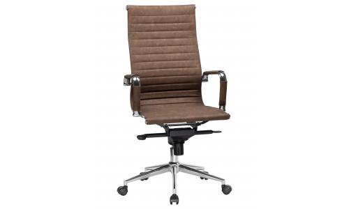 Офисное кресло для руководителей LMR-101F (коричневый лофт №320)