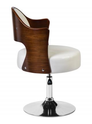 Кресло дизайнерское LMZ-5388 (коричневое дерево, белый крокодил)