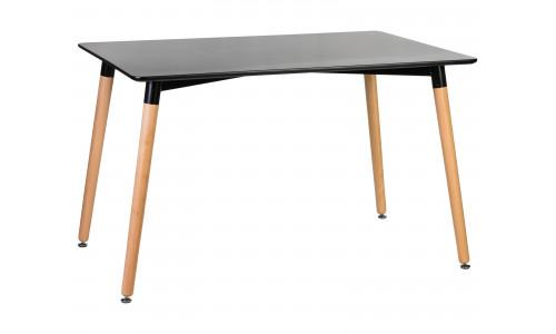 Стол обеденный LMZL-TD-04 (ножки светлый бук, столешница чёрная)