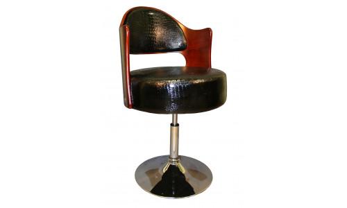 Кресло дизайнерское LMZ-5388 (красное дерево, чёрный крокодил)