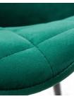 Стул обеденный LML-8266 Robert (черные матовые ножки, велюр V108-64 Зелёный)