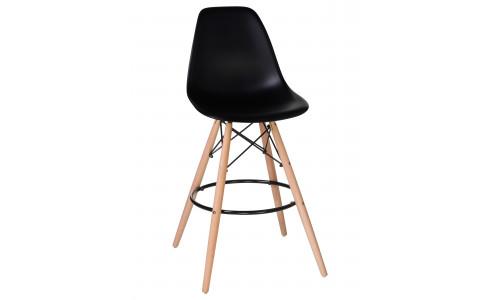Стул барный LMZL-PP623G (ножки светлый бук, цвет сиденья чёрный)