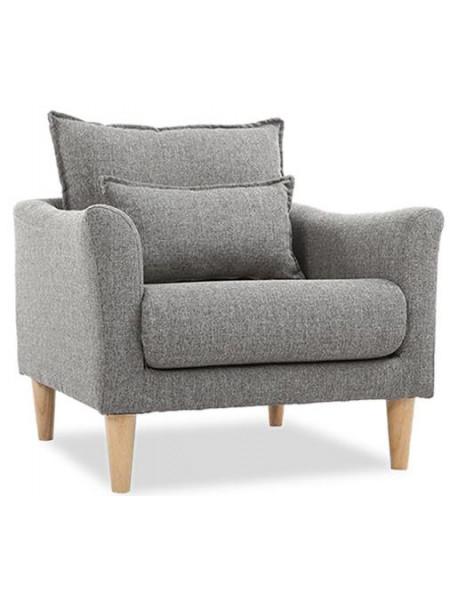 Кресло Катрин серое нераскладное