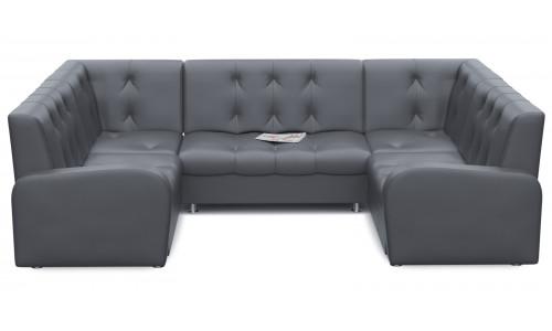 Диван офисный Стандартный П-образный Grey