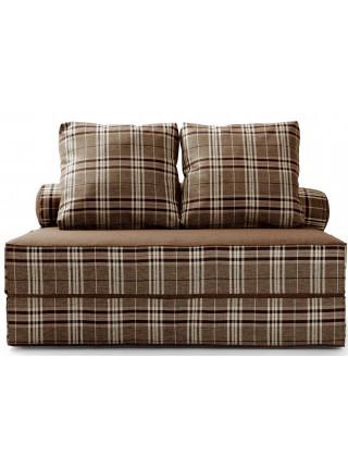 Бескаркасный диван Фаргус коричневый