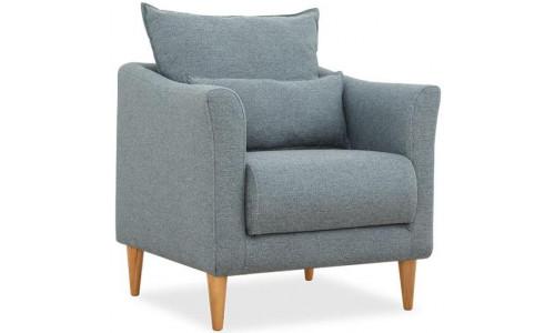 Кресло Катрин серо голубой нераскладное