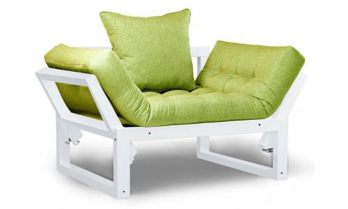Кресло Амбер белый зеленый сосна