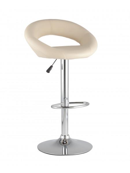 Барный стул Купер бежевый кожаное сиденье