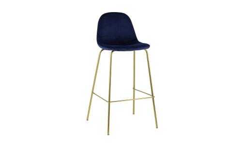Барный стул Валенсия мягкий синий