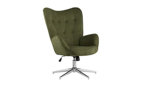Кресло регулируемое Филадельфия зеленое мягкое обивка из замши