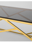 Стол журнальный 120*60 АРТ ДЕКО золото стекло smoke каркас нержавеющая сталь