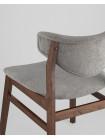 Стул RAGNAR обеденный деревянный с мягким серым тканевым сиденьем