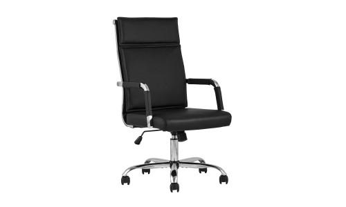 Офисное кресло TopChairs Original черное в обивке из экокожи