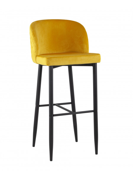 Барный стул Оскар велюр оранжевый
