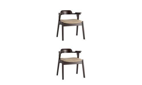 Комплект стульев VINCENT в мягкой бежевой обивке