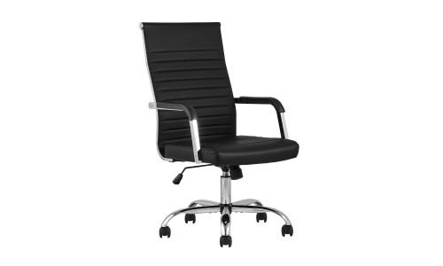 Офисное кресло TopChairs Unit черное в обивке из экокожи